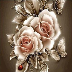 ורדים חום - יהלומים חלקי