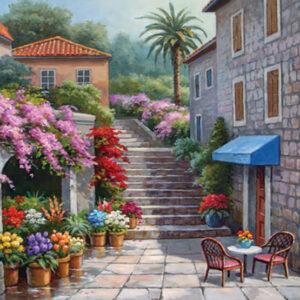 פאזל חנות פרחים אביבית