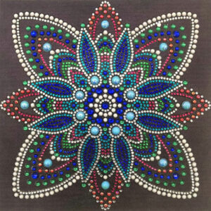 כוכב כחול בורדו - יהלומי קריסטל צורני
