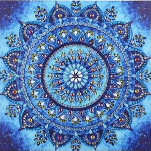 כוכב כחול מיהלומי קריסטל - יהלומים חלקי