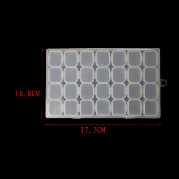 כלי לאחסון יהלומים 28 תאים נשלפים