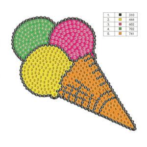 יצירת יהלומים לקטנטנים - גלידה