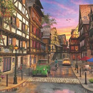 רחוב צרפתי בשקיעה