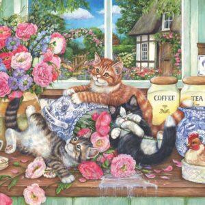 פאזל 500 חלקים - חתולים במטבח