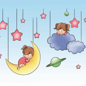 צביעה לפי מספר ילדות בעננים