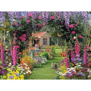 בית במסגרת פרחים