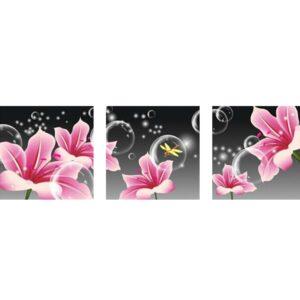 שלישיית פרחים בוהקים