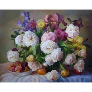 צביעה לפי מספר פרחים ופירות