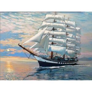 צביעה לפי מספר ספינת מפרשים בים