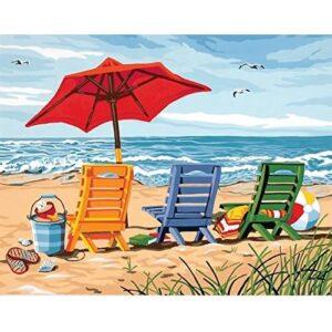 צביעה לפי מספר כורסאות על החוף