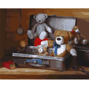 צביעה לפי מספר דובים במזוודה