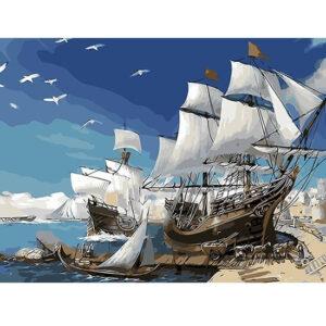 צביעה לפי מספר ספינת מפרשים