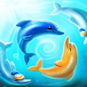 צביעה לפי מספר דולפינים בשחיה