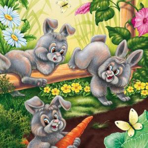 צביעה לפי מספר ארנבות באביב