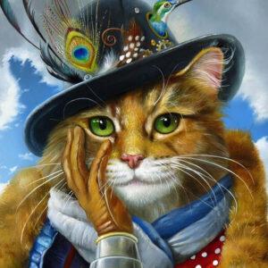 צביעה לפי מספר חתול שובב