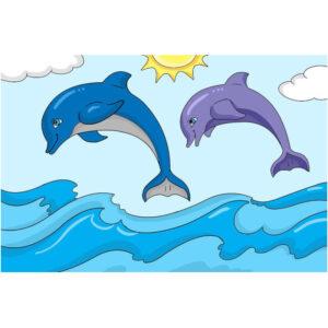 יצירה ביהלומים משחק דולפינים