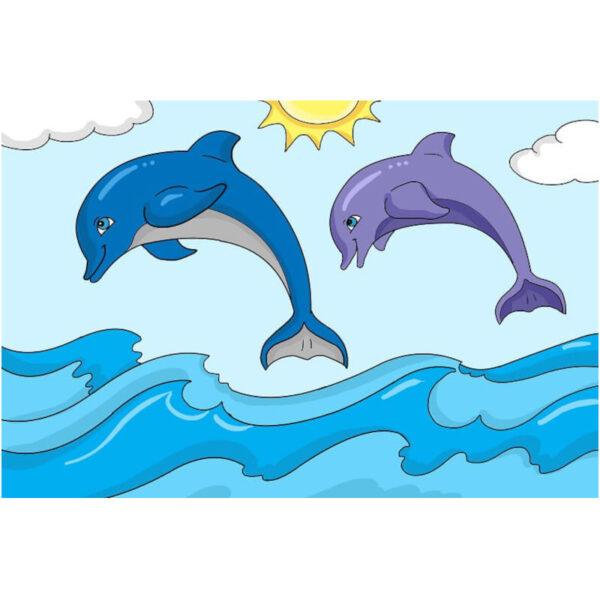יצירה ביהלומים וצביעה משחק דולפינים