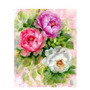 פרחים בצבעי מים