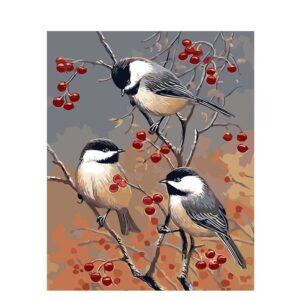 ציפורים ודובדבנים