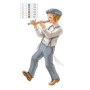 יצירה ביהלומים ילד עם חליל לסוכה