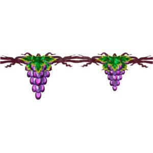 יצירת אמנות מנייר שרשרת אשכולות ענבים