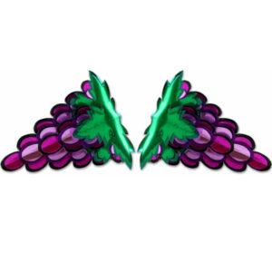 יצירת אמנות מנייר ענבים