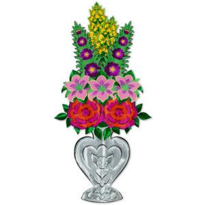 יצירת אמנות מנייר אגרטל פרחים