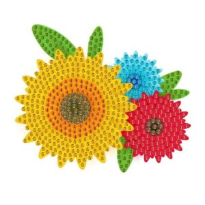 יצירה ביהלומים לקטנטנים פרחים צבעוניים