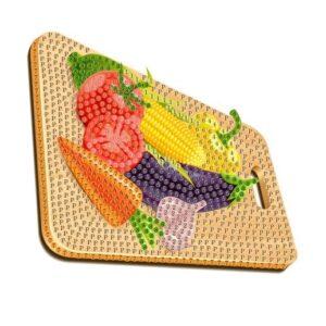 יצירה ביהלומים לקטנטנים ירקות וקרש חיתוך