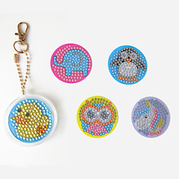 מחזיקי מפתחות חיות יצירת יהלומים