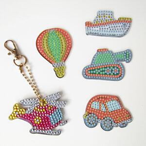 מחזיקי מפתחות כלי תחבורה יצירת יהלומים