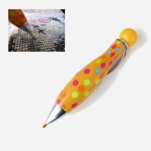 עט ליצירת יהלומים צהוב עם נקודות