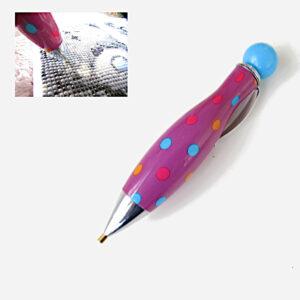 עט ליצירת יהלומים עם נקודות סגול