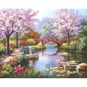 צביעת תמונה לפי מספר גשר על הנהר