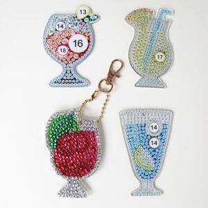 מחזיקי מפתחות משקאות יצירת יהלומים