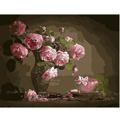 צביעה לפי מספרים אגרטל פרחים עתיק