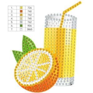 יצירת יהלומים לקטנטנים מיץ תפוזים