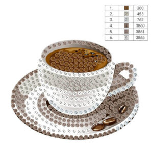 יצירת יהלומים מגנט לקטנטנים כוס קפה