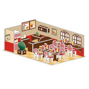 פאזל תלת מימד - מסעדה